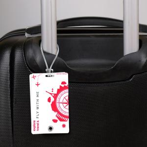 Luggage Tag Blanc avec impression quadri